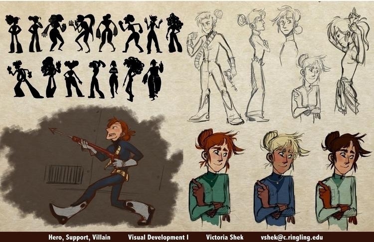 Wolf 359: Renee Minkowski - characterdesign - vshek   ello