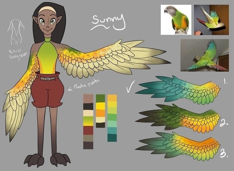 Sunny Starling - characterdesign - hannahspangler   ello