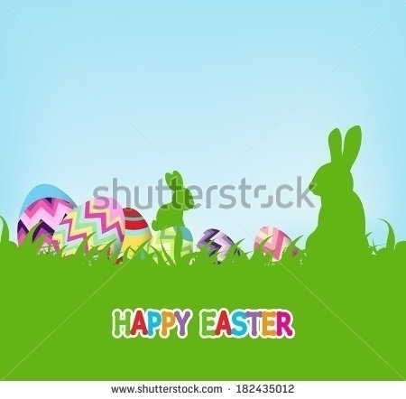 Easter background eggs rabbit g - ngocdai86 | ello