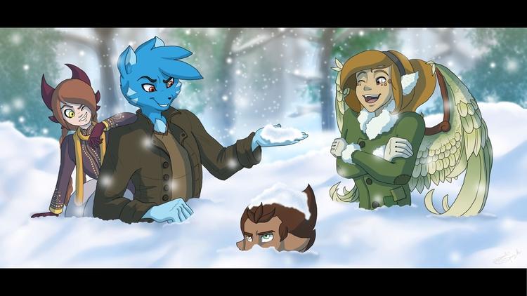 Crew winter wonderland - TheLimitlessCrew - hannahspangler   ello