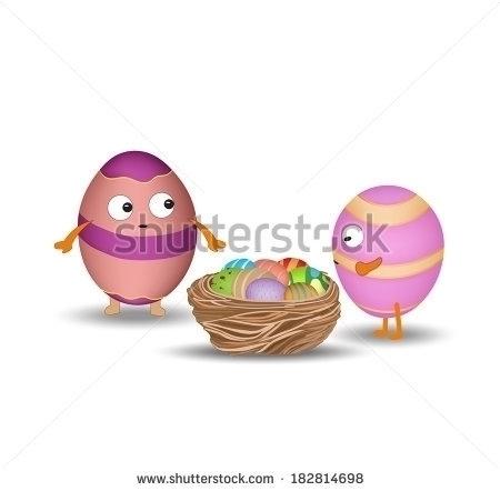 eggs nest - illustration, drawing - ngocdai86 | ello