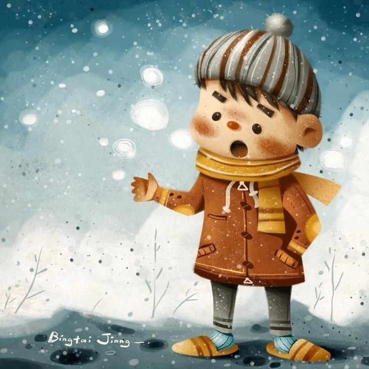 cold - illustration, sweaterweather - bingtai | ello