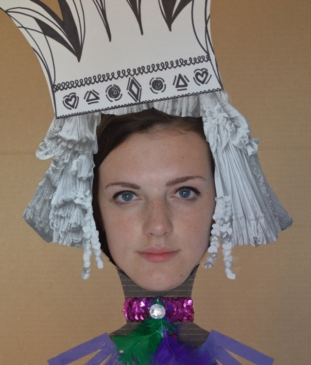 cardboard, queen, cutout, feathers - alicebruce | ello