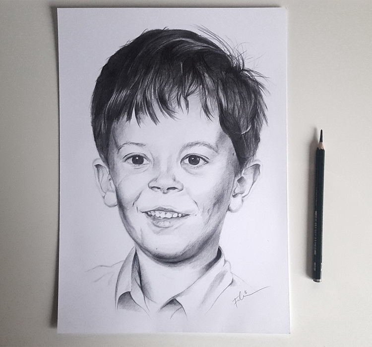 Portrait Boy | Pencil, A4 Janua - fallydesign | ello