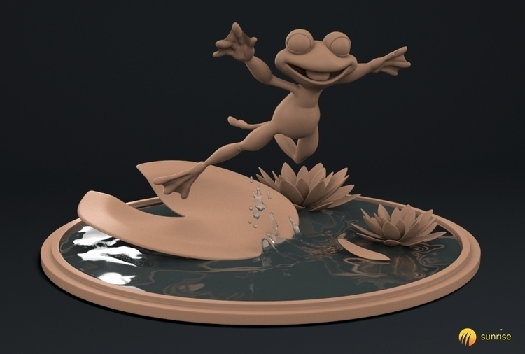 Frog - character, modeling, 3d, zbrush - duncan_foster | ello