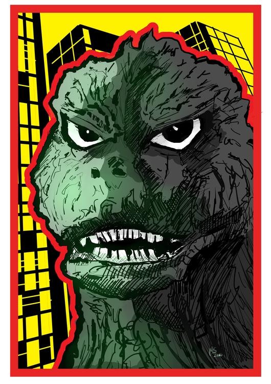 Godzilla - illustration, monster - marksolario   ello