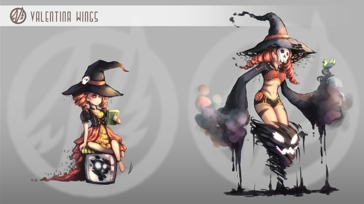 witch, concept, characterdesign - valentinawings | ello