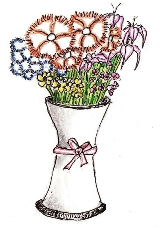 Vase - drawing, illustration - cheechwiz | ello