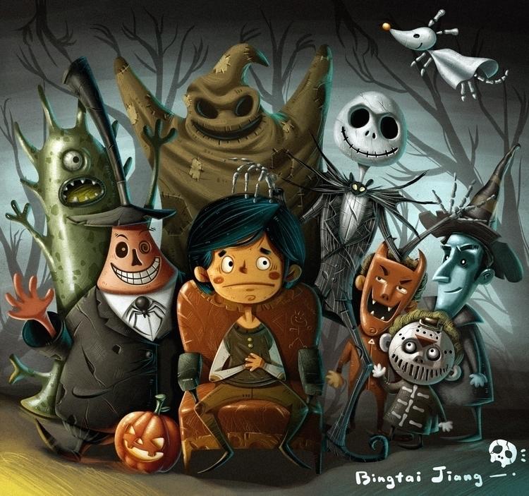 Kuso halloween - illustration, pumpkin - bingtai | ello