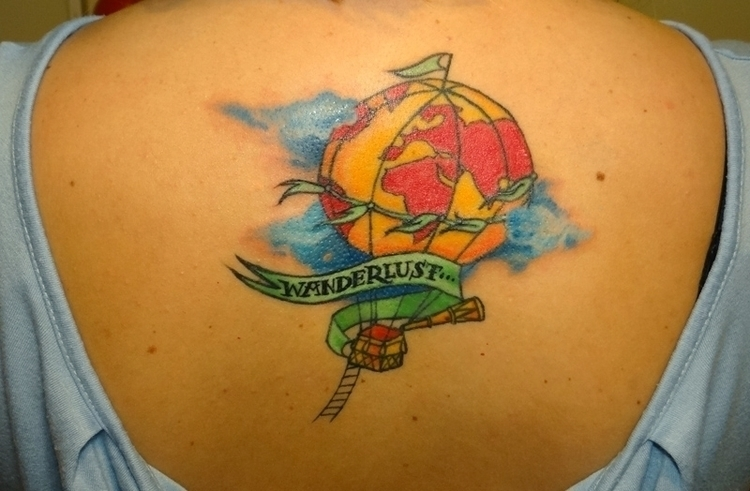 wanderlust - tattoo, baloon - syrnique | ello