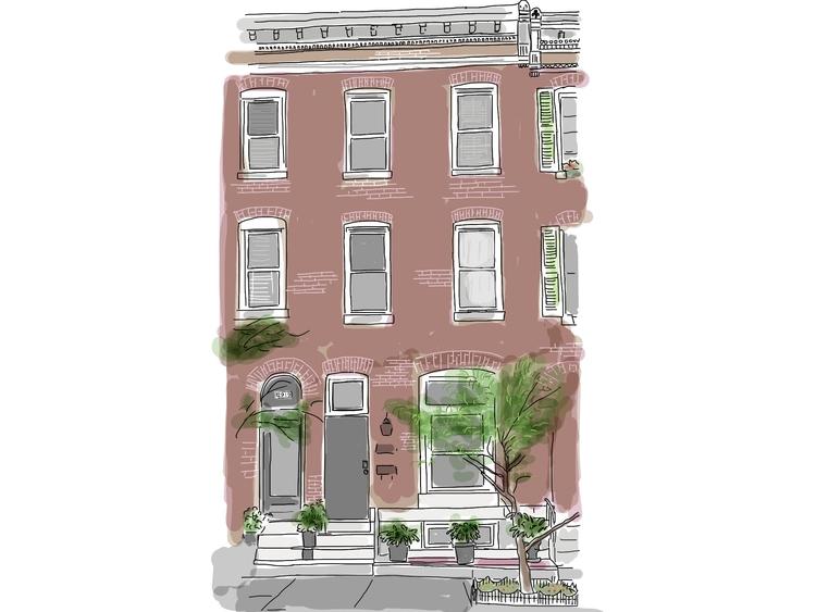 House - illustration, drawing, building - ilanagraf   ello