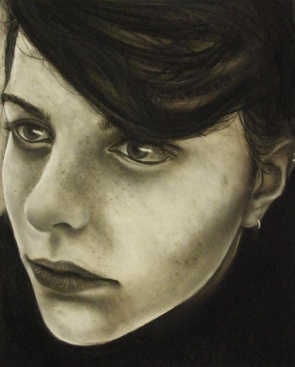 illustration, portrait, charcoal - cervidae-1054   ello
