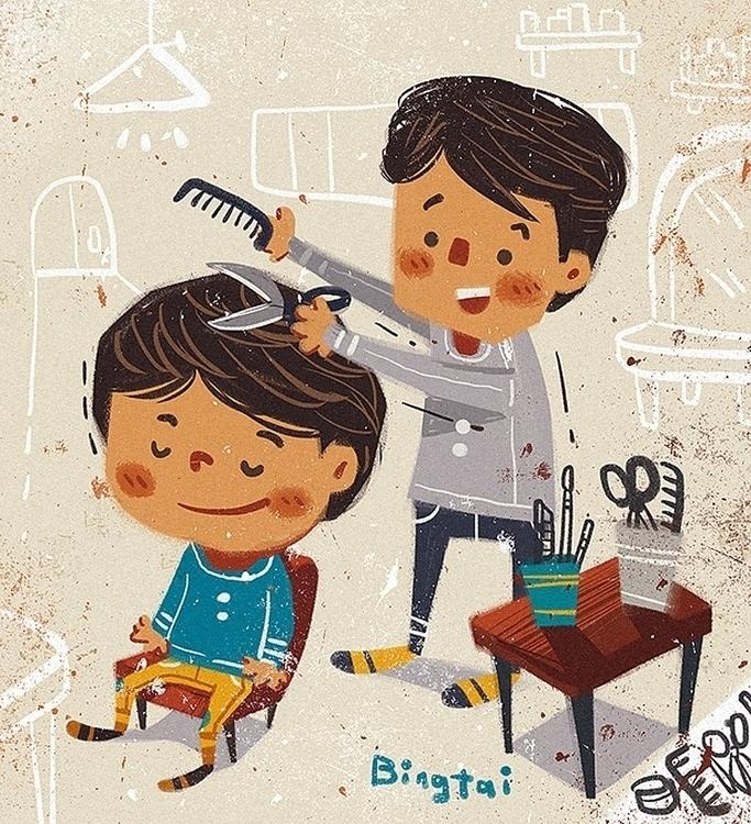 Haircut - hairstyles, doodles - bingtai | ello