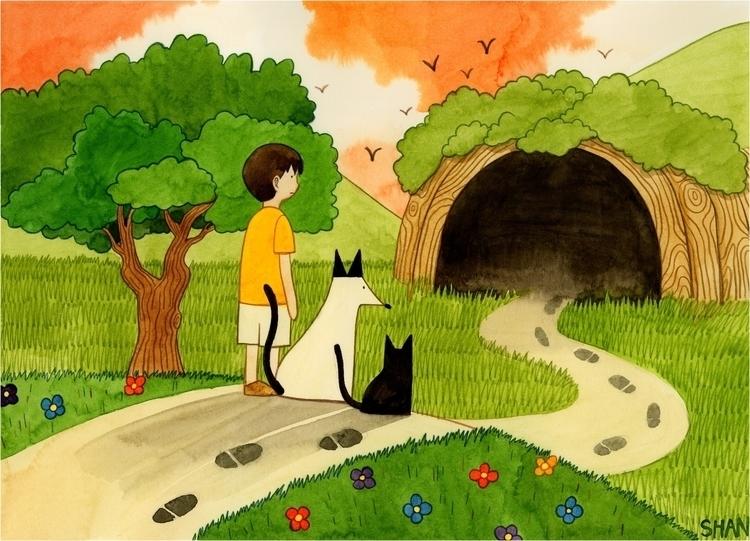 Follow foot steps - illustration - seung037 | ello