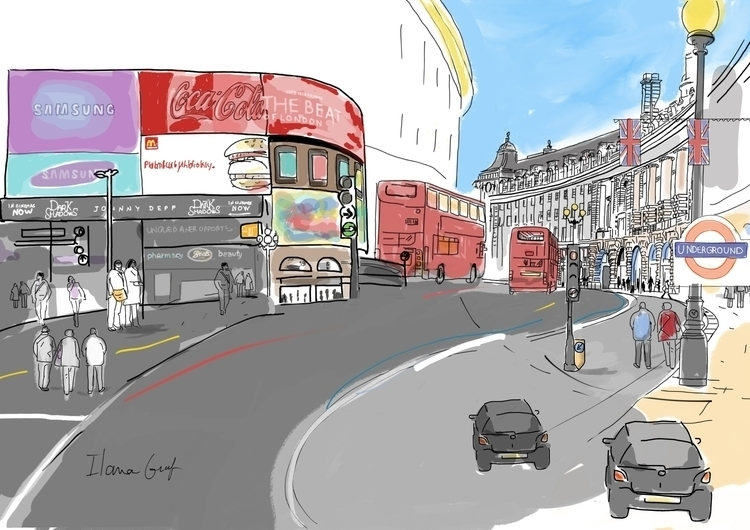 Piccadilly circus London - piccadillycircus - ilanagraf | ello