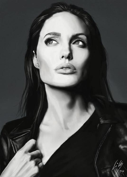 Angelina Jolie - illustration, angelinajolie - lillycorradini | ello