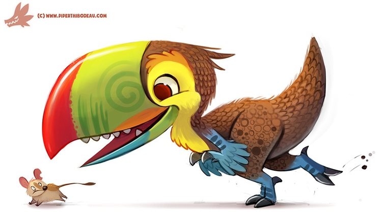 Daily Paint Toucaraptor - 1151. - piperthibodeau | ello