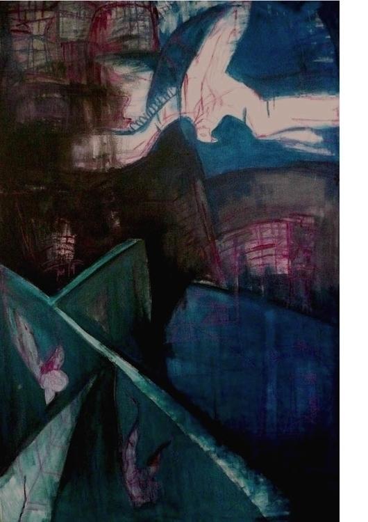 Icarus fall-80x100cm-800usd - painting - gdlynnosman | ello