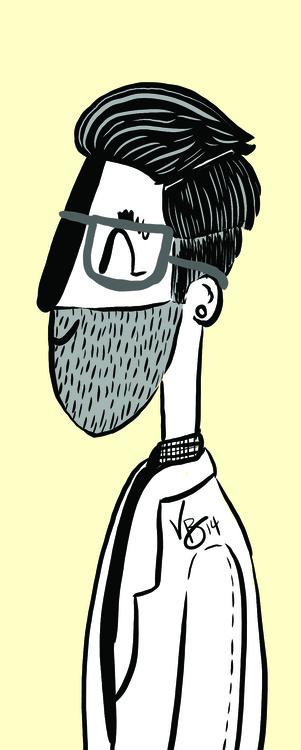 man, beard, cintiq, personal - vickydoodles-4070 | ello