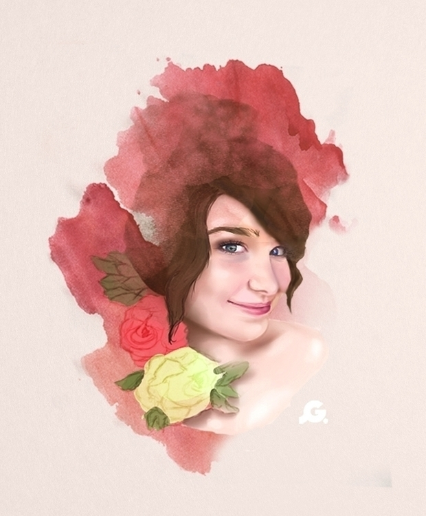 Portrait - illustration, painting - joselingrisel | ello