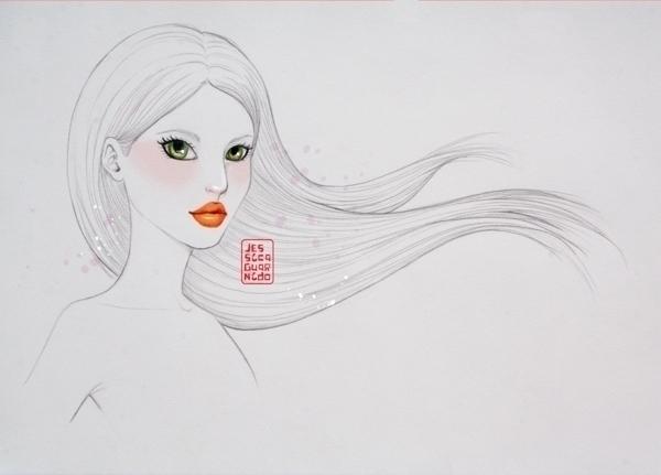 Beautiful woman long straight h - jessicaguarnido | ello