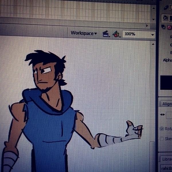 Dude - illustration, characterdesign - ajitvaidya | ello