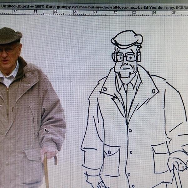 man - illustration, characterdesign - ajitvaidya | ello