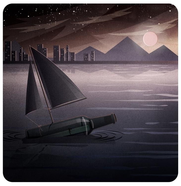 Adrift - illustration short sto - mathildaholmqvist | ello