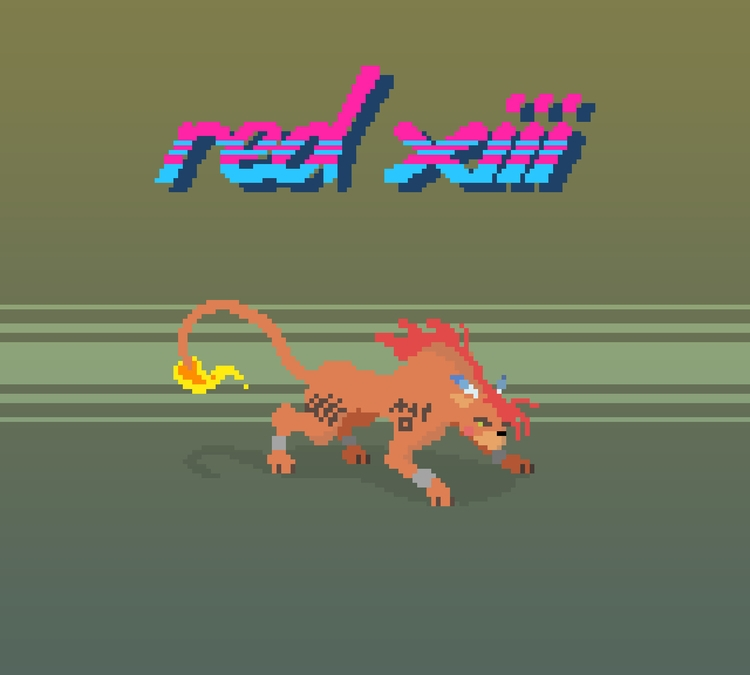 Red XIII (nanaki) - Final Fanta - planckpixels   ello