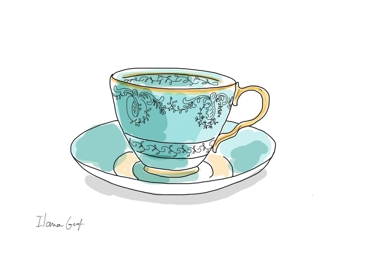 Tea cup - tea, teacup, illustration - ilanagraf | ello