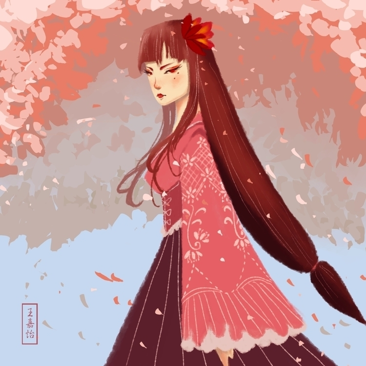Hime - illustration, drawing, painting - toydreamer | ello