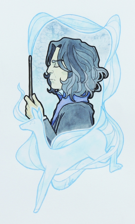 Professor Snape - illustration, harrypotter - kelsonouveau | ello