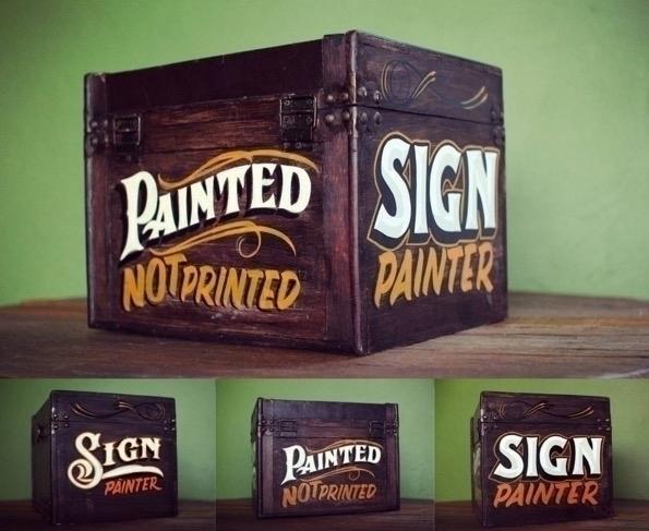 Decorated paint kit - signpainting - gibara   ello