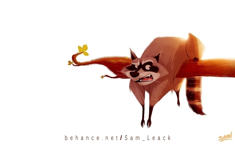 Raccon - illustration, painting - samuel-1069 | ello