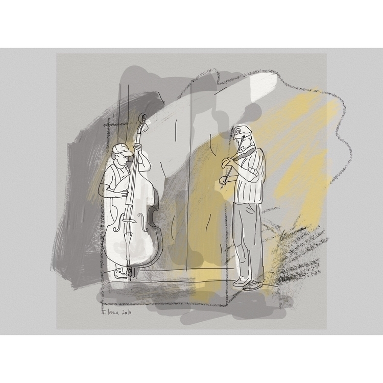 Street musicians - music, illustration - ilanagraf   ello