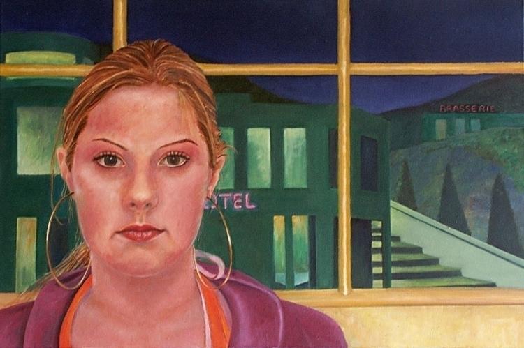 Portrait 16 year girl 60 40 cm - marjon-4891 | ello