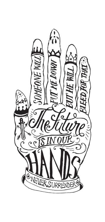 future hands - hand, handdrawn, handlettering - hueroth | ello