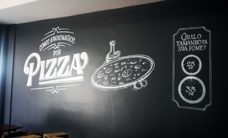 Pizza place mural - 1, handpainted - gibara | ello