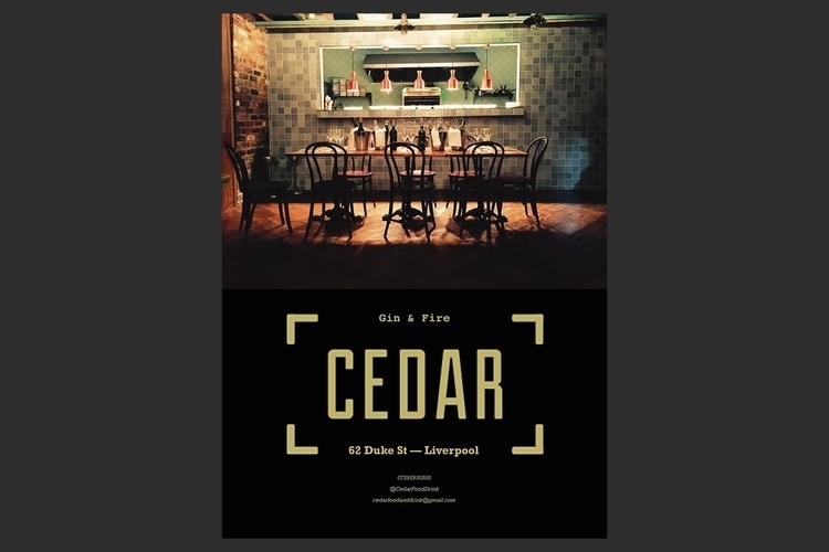 Print Ad Design Cedar Bar, Live - spink-6688 | ello