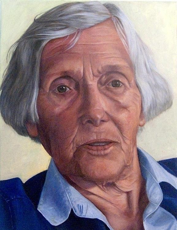 Jeanne Oil canvas 80 60 cm - painting - marjon-4891 | ello