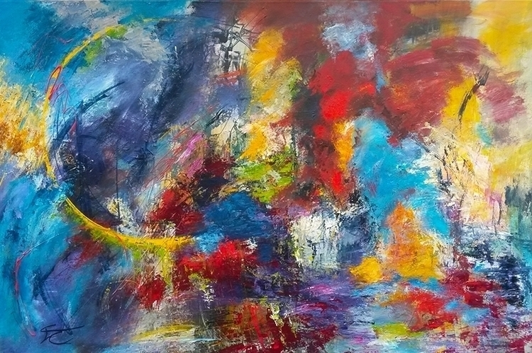 Color storm 100 120 cm - painting - xplore-1239 | ello