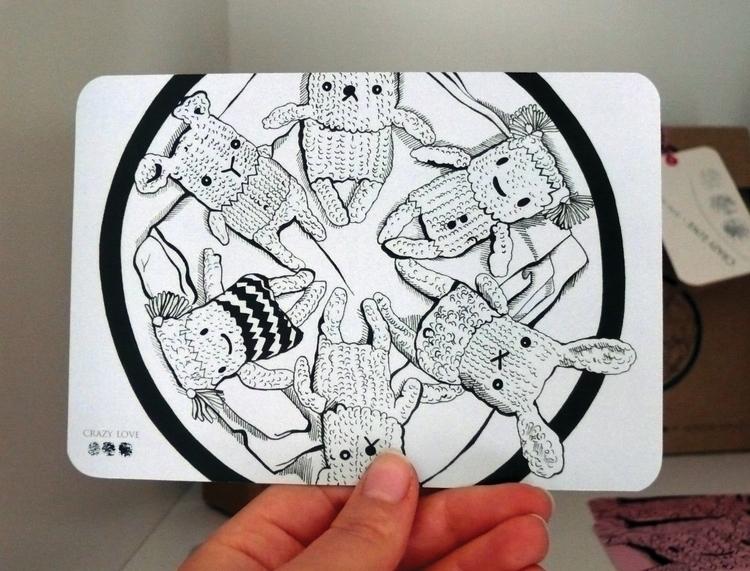 Hand-drawn characters displayed - sheree-3254   ello
