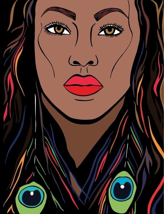 vector illustration exotic beau - sheree-3254 | ello
