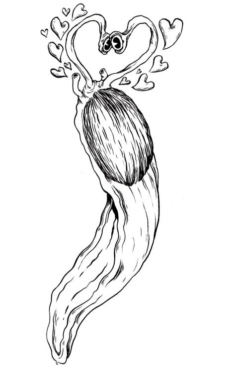 Slug Luv - slug, love, ink, drawing - mjarvis-5786   ello