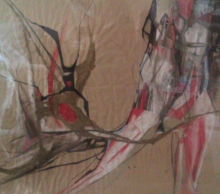 Work_4/ 250$/ 85 101 cm/ graphi - olyayermakova | ello