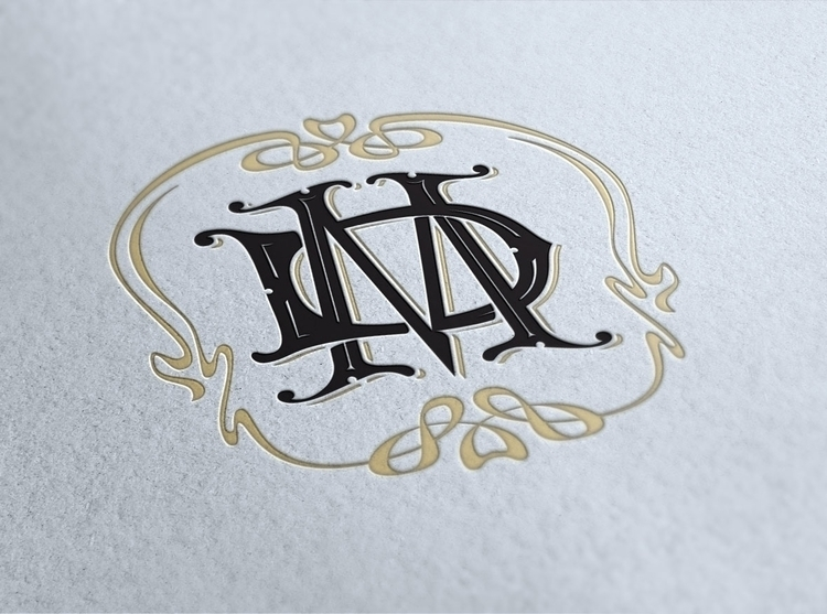 Hand drawn wedding monogram - lettering - gibara | ello