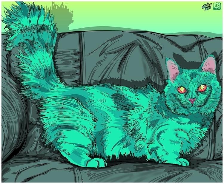 Cat green cat watch coach! deta - atsukosan-3588 | ello