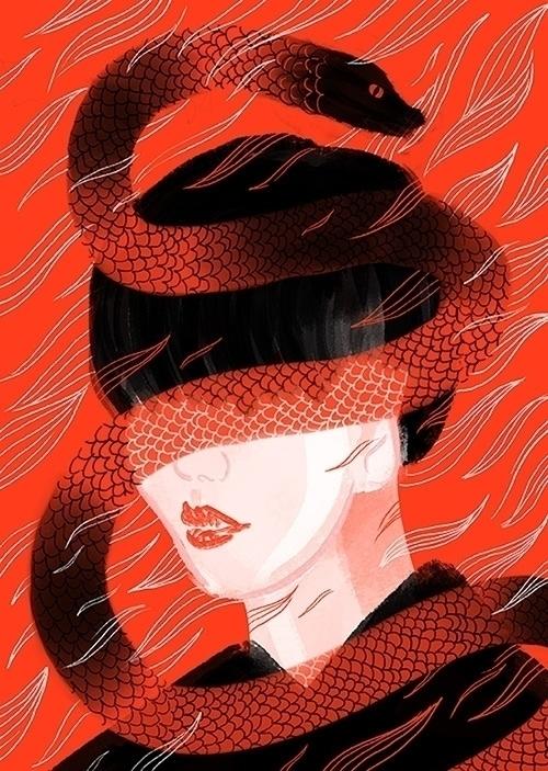 Wrath - girl, snake, wrath, anger - stephaniekubo-8873 | ello
