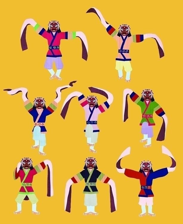 masked dance - illustration, painting - soso-6104 | ello