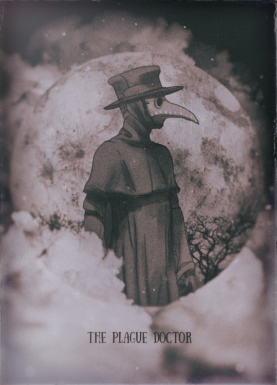 plague doctor - illustration, painting - soso-6104 | ello